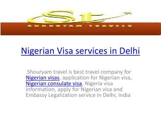 Nigeria visa services in delhi