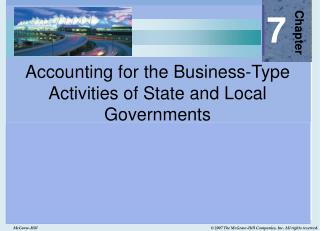 Accounting for the Business-Type Activities of State and Local Governments