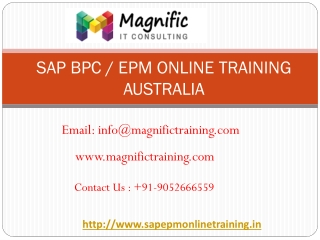 sap bpc online training australia | magnific training