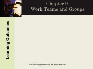Chapter 9  Work Teams and Groups