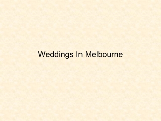 Wedding Receptions Melbourne