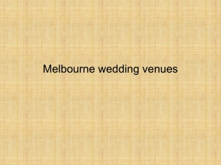 Wedding Venue Melbourne