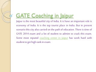 Why you join the GATE Coaching in Jaipur