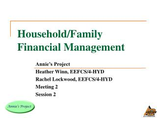 Household/Family Financial Management