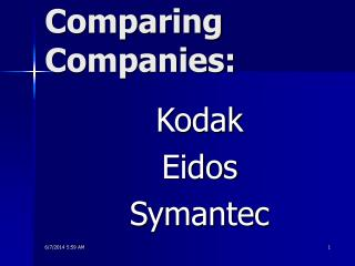 Comparing Companies: