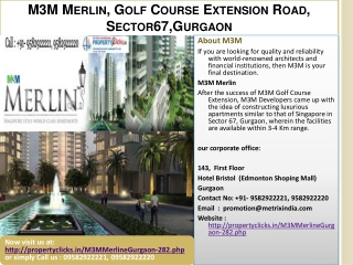 m3m merlin gurgaon , call: 9582922221, 9582922220 | property