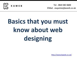 Basics that you must know about web designing