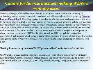 Connie Jordan-Carmichael making WEAV a winning asset
