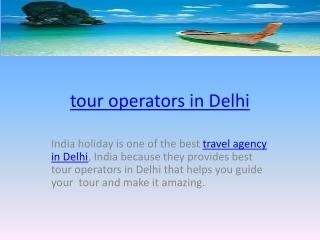 tour operator in delhi