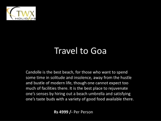travel to goa
