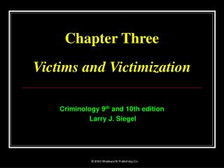 Chapter Three  Victims and Victimization