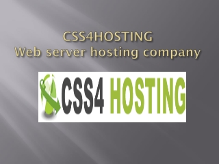CSS4hosting provides the server hosting services in USA
