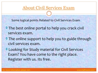 View About Civil services Exam