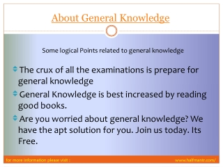 View About General Knowledge