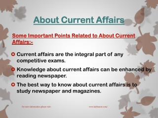 New topics topics About Current Affairs