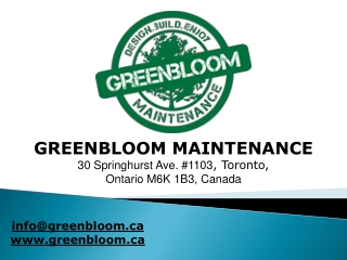 Green Bloom - CORE AERATION