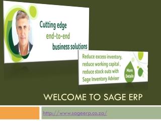 Erp software - sageerp.co.za