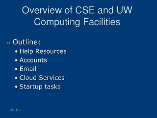 overview of cse and uw computing facilities