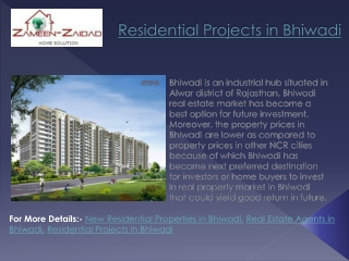 Residential Projects in Bhiwadi