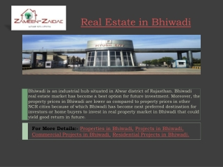 Real Estate in Bhiwadi