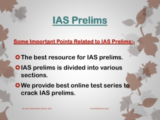Get test series for IAS prelims