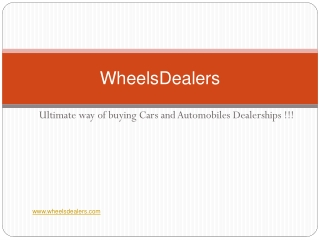 Wheelsdealers - Used automobile for sale