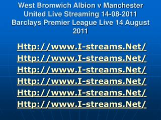 watch west bromwich albion v manchester united live streamin