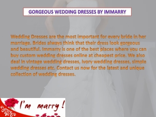 Gorgeous Wedding Dresses by Immarry