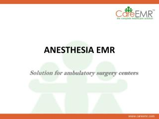 best anesthesia emr software