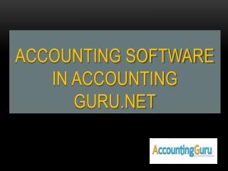 Accounting Guru-Cloud accounting software
