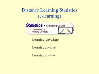 Distance Learning Statistics (e-learning)
