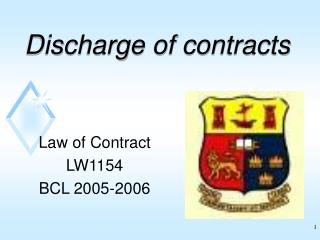Discharge of contracts