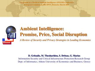 Ambient Intelligence: Promise, Price, Social Disruption  A Review of Security and Privacy Strategies in Leading Economie