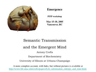 Emergence PITP workshop May 15-18, 2005 Vancouver, BC