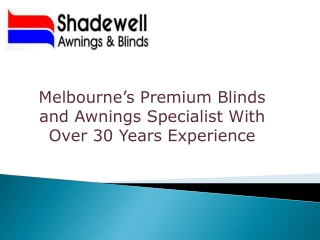 Best Folding Arm Awnings in Melbourne
