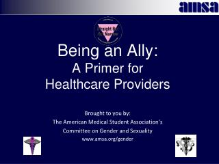 Being an Ally:  A Primer for  Healthcare Providers