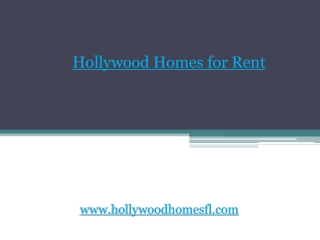 Hollywood Homes for Sale