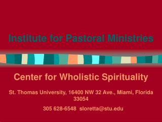 Institute for Pastoral Ministries