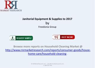 New Report Janitorial Equipment Supplies Market 2017