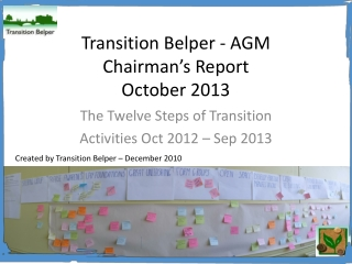 Transition Belper annual report 2013 AGM