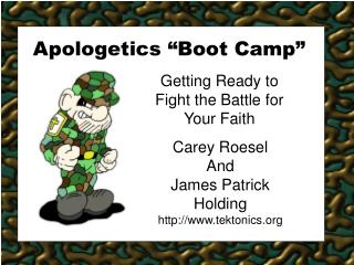 Apologetics  Boot Camp