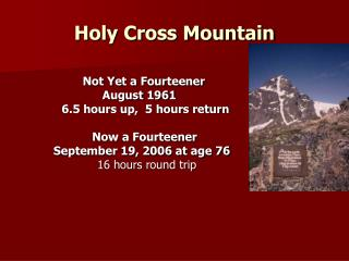 Holy Cross Mountain