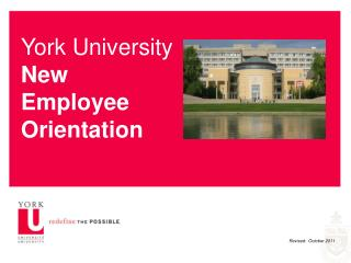York University New Employee Orientation