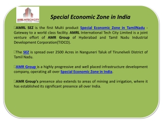 Special Economic Zone in India