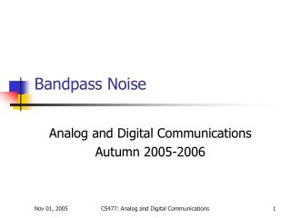 Bandpass Noise
