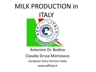MILK PRODUCTION in ITALY