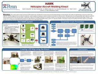 HAWK Helicopter Aircraft Wielding Kinect Kevin Conley (EE '12), Paul Gurniak (EE '12), Matthew Hale (EE '12), Theodore