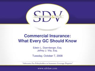 Commercial Insurance:  What Every GC Should Know