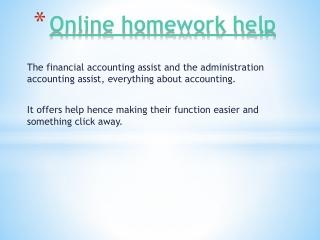Online homework help