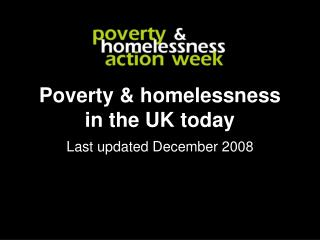 Poverty & homelessness in the UK today